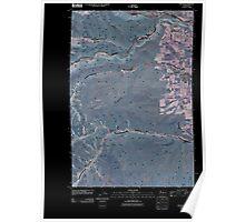 USGS Topo Map Washington State WA Tieton 20110502 TM Inverted Poster