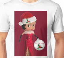 BETTY BOOP KISS ME SANTA -PILLOW-TOTE BAG-JOURNAL-ECT. Unisex T-Shirt