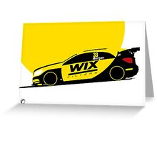 Adam Morgan WIX Racing Mercedes A-Class Touring Car BTCC Greeting Card