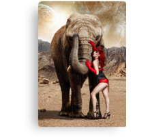 Elephants & Showgirls Canvas Print