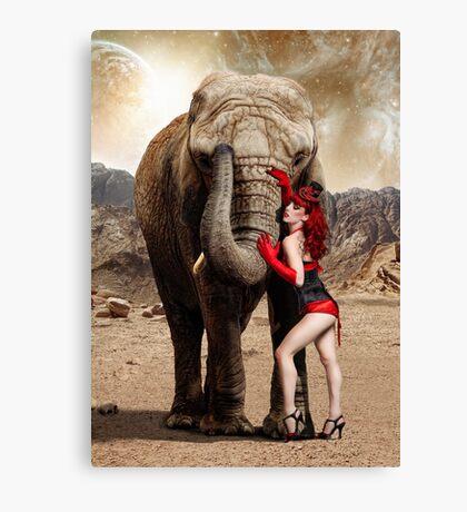 Elephants & Showgirls Canvas Print