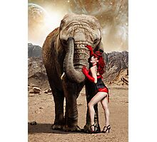 Elephants & Showgirls Photographic Print