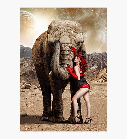 Elephants & Showgirls Photographic Print