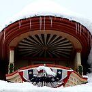 Snowy Balcony by Sue Hays
