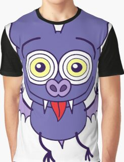 Purple bat feeling madly in love Graphic T-Shirt