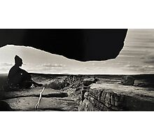 Gritstone Climber Photographic Print