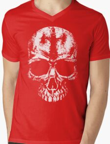 Painted skull Mens V-Neck T-Shirt