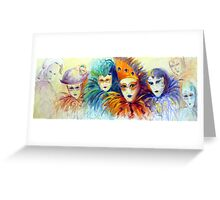 Collection of masks Greeting Card
