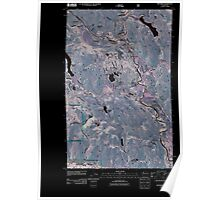 USGS Topo Map Washington State WA Winthrop 20110427 TM Inverted Poster