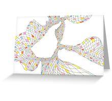 Geometric landscape multi colour rainbow 02 drawing  Greeting Card