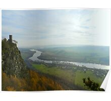 View from Kinnoull hill of the River Tay Poster