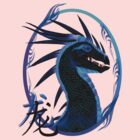 Horned Black Dragon and Symbol by Lotacats
