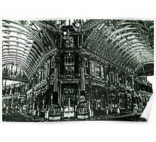 Leadenhall Market Charcoal Effect Image Poster