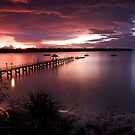Lombok Pier Sunset by Anthony Evans