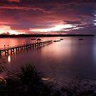 Lombok Pier Sunset by Anthony Evans
