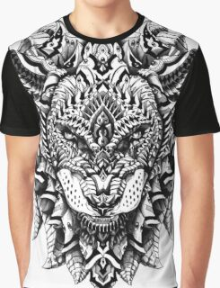 Ornate Lion Graphic T-Shirt