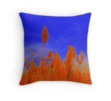 swamp grass blue Throw Pillow