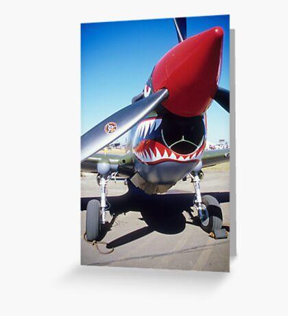 P-40 Kittyhawk Greeting Card