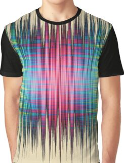 High Frequency Psychedelic Rainbow Color Waves Graphic T-Shirt