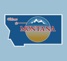Welcome to Montana, Road Sign, USA  Baby Tee