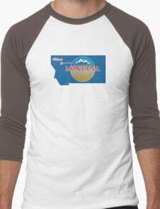 Welcome to Montana, Road Sign, USA  Men's Baseball ¾ T-Shirt