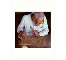 Furniture maker, Peshawar, Pakistan. Art Print