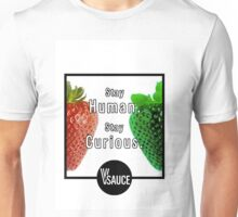 Vsauce Merchandise (Video: Stay Human, Stay Curious) Unisex T-Shirt