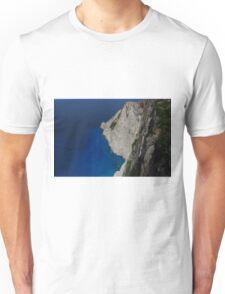 Limestone Cliff, Turquoise & Blue Sea Unisex T-Shirt