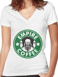 Empire Coffee Women's Fitted V-Neck T-Shirt