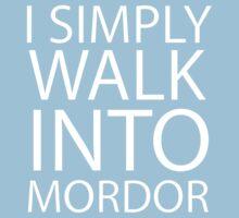 I simply walk into Mordor (no eye) One Piece - Short Sleeve