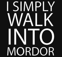 I simply walk into Mordor (no eye) T-Shirt