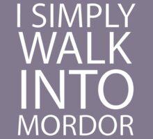 I simply walk into Mordor (no eye) Kids Tee