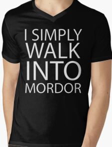 I simply walk into Mordor (no eye) Mens V-Neck T-Shirt