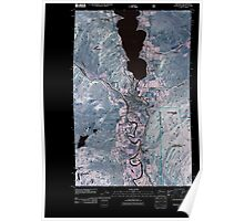 USGS Topo Map Washington State WA Oroville 20110429 TM Inverted Poster