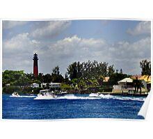Jupiter Inlet and Lighthouse Poster