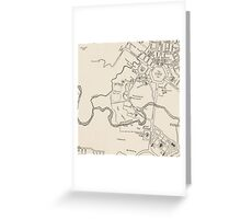 Canberra Tourist Map 1950 Greeting Card