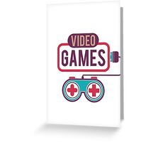Video Games Greeting Card
