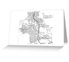 Canberra Railway Stations and Lines Greeting Card