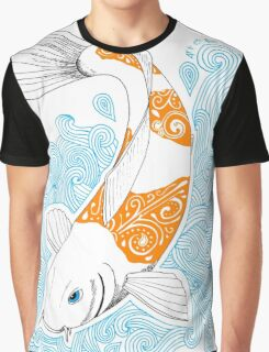 Fish carp Koi - Orange Graphic T-Shirt
