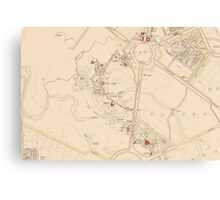 Canberra Acton Map 1933 Canvas Print