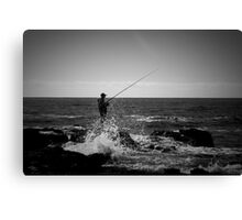 Fishing Off Newcastle Baths Canvas Print