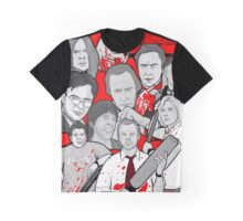 shaun of the dead character collage Graphic T-Shirt