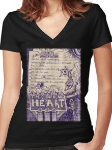 Fuel This Burning Heart: Sticker or T-Shirt Women's Fitted V-Neck T-Shirt