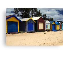 Dromana Beach Boxes Canvas Print