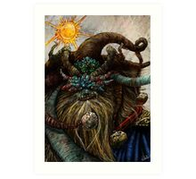 Wishta Fool Tarot  Art Print