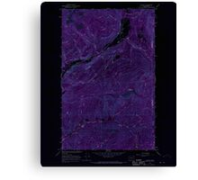 USGS Topo Map Washington State WA Aladdin 239772 1966 24000 Inverted Canvas Print