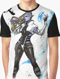 Aria from Mass Effect sumi and watercolor style Graphic T-Shirt