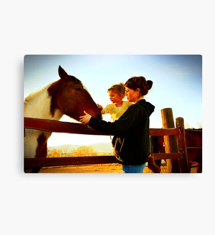 A moment with Mom Canvas Print