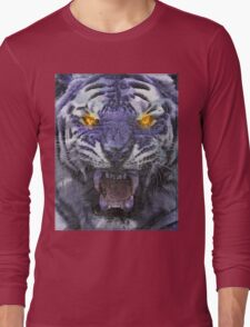 Psychedelic Tiger Poster Long Sleeve T-Shirt