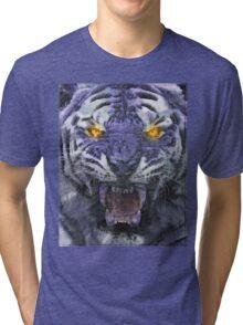 Psychedelic Tiger Poster Tri-blend T-Shirt